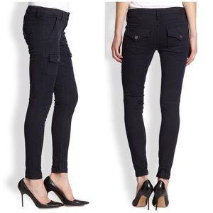 Joie black cargo zip so real skinny jeans 28
